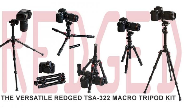 Redged TSA-322K Aluminium Travel Macro Kit + R-0n Ball Head